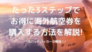 海外航空券の購入方法の写真