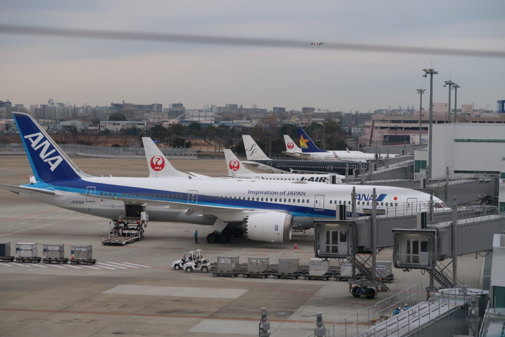 飛行機の写真