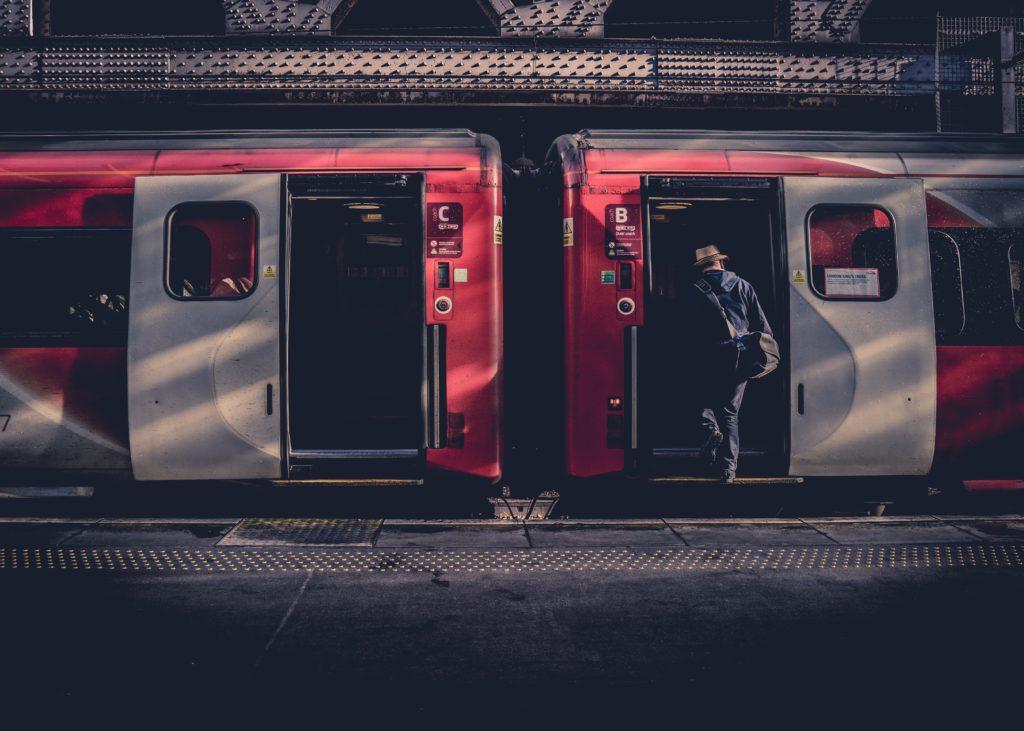通勤中の写真