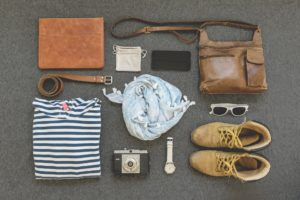 海外旅行アイテムの写真